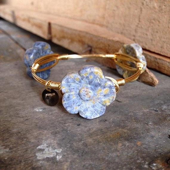 Madagascar Flower Stone, Flower Stone, Natural Stone Bangle, Unique Bangle, Bangle, Stackable Bangles, Bracelets, Accessories, Jewelry