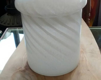 1970s Murano Glass Covered Jar Made in Italy