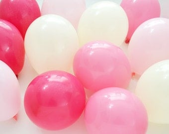 "5"" Mini Balloons - Pink Ombre // 12 Pack // Wedding & Birthday Decor // Small, Tiny Latex // Blush Pink Nude Peach Champagne //"