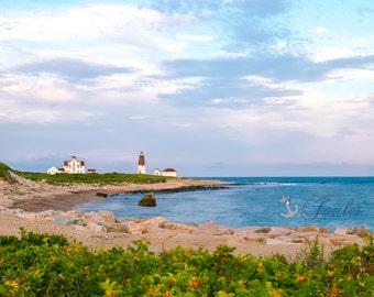 Limited Edition ~ Point Judith Lighthouse ~ Nautical Decor, Narragansett, Rhode Island, Fine Art Canvas, New England, Fine Art Photography