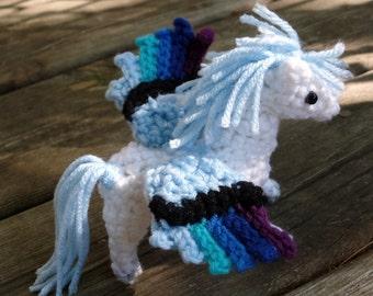 "Crochet Pegasus Horse Plush  ""Apallion"""