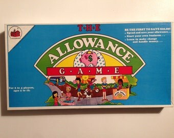 The Allowance Game Vintage Board Game 1984