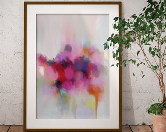 In Bloom, Framed Abstract Art - Limited Edition Abstract Giclee Print - Modern Art Print from Original Abstract Painting