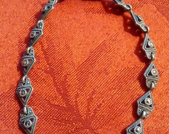 Vintage Marcasite Sterling Bracelet