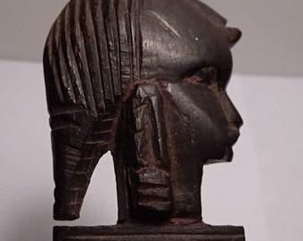 African Antique Ebony Wood Hand Carved Letter Opener