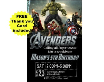 Avengers Birthday Invitation - Avengers Invitation - Avengers Invite - Avengers - Avengers Invite - Avengers Birthday Party - Digital