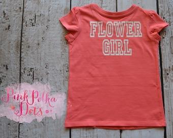 Flower Girl, Junior Bridemaid, Bridesmaid Varsity Tee or T Shirt