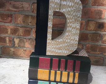 Book Letter D.....Custom Made Just For YOU!!!!  Letters created from actual Hardcover Books!!
