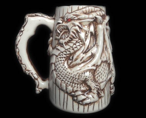 Anniversary gift for men dragon beer mug by kachaktanomugs for Dragon gifts for men