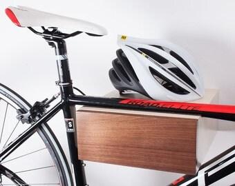 Wooden Bike Shelf, Bike Wall Mount