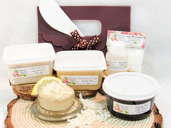 Natural Coconut Lemon Scrub Sugaring Paste Deluxe Starter Kit