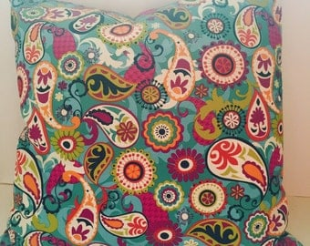 Colorful Paisley Pillow