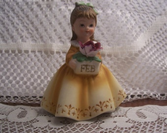 Lefton February Little Girl Figurine
