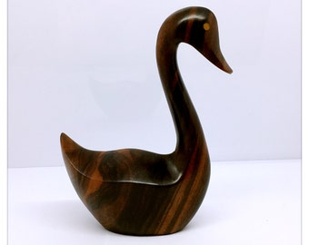 Carved Ironwood Swan Figurine