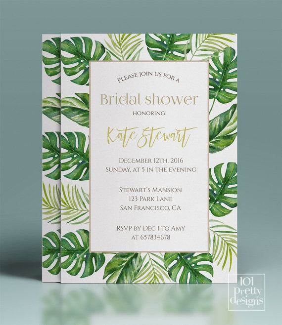 Tropical bridal shower invitation floral printable bridal shower il570xn filmwisefo