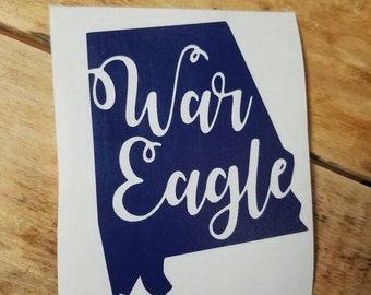 Auburn war eagle state decals
