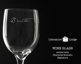 Wine Glass: Charlotte Bronte