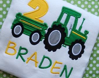 Tractor Birthday Shirt, John Birthday Shirt, Farm Birthday