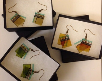 Film Reel Frame Earrings