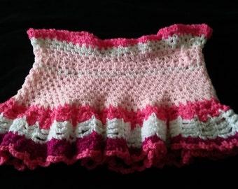 Handmade Crochet Peplum Skirt