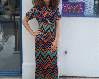 Vintage 1970's Striped Dress