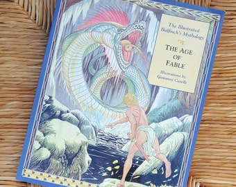 Vintage 90s Illustrated Book / The Age of Fable