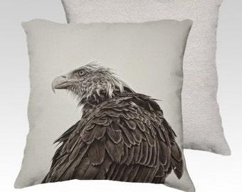 """Bald Eagle Portrait Photographic Pillow (18"""" x 18"""" and 22"""" x 22"""")"""