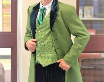 Men's Wizard of Oz / Willy Wonka / Victorian Long Jacket Custom Costume