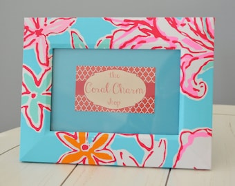 Lilly Pulitzer Lolita Fabric Wrapped Wooden Frame