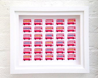 London bus art, London bus nursery decor, red bus picture, kids's British theme, London wall art, Nursery bus, London bus wall decor,