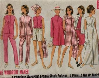 CLEARANCE!!  Butterick 4774 misses coat, jacket, dress, blouse, pants & shorts size 14 bust 36 waist 27 1960's pattern  Uncut factory fold