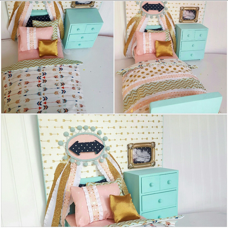 Arrow Doll Bed Set 18 Doll Bed Doll Bedding Doll Bed
