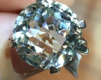 Prasiolite  ring light color Sparkly