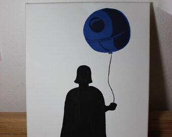Darth Vader Balloon Painting