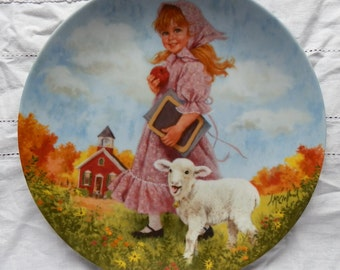 1985 Mary Had a Little Lamb Limited Edition Reco Plate Mother Goose Series by John McClelland