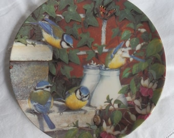 Vintage Coalport Fine China Plate Top of the Morning - Garden Visitors