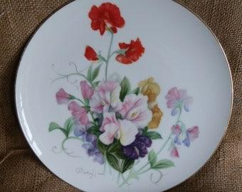 Vintage c1960 Noritake N Nippon Toki Kaisha Floral Fressia Decorative Cabinet Plate
