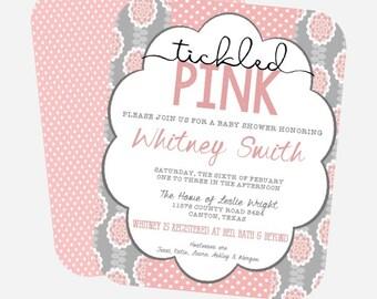 Tickled Pink Baby Shower Invite