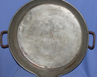 1932 Hand Made Tinned Copper Platter Tray