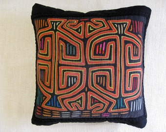 Mola Pillow with Two Figures