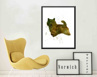 Norwich Terrier Dog Print  Norwich Terrier print Dog Norwich Terrier Dog Art