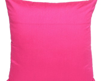 Set of 2 Solid Fuchsia Pink Pillow and Euro Sham Cover Fuchsia Pillow Accent Pillow Solid Solid Pink Throw Pillow Bedding