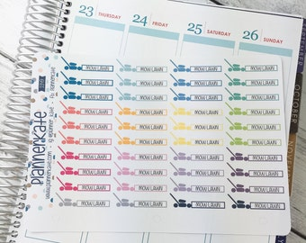 50% Off! S349 || MOW LAWN Stickers for Planner (40 Removable Matte Stickers)
