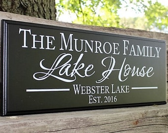 Personalized Lake House Sign-Lake House Decor wood lake sign-cabin signs-cabin decor-shore house decor-custom lake house sign-lake lover