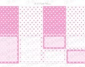 Planner Stickers - Pink Polk a Dot Full & Half Box Planner Stickers