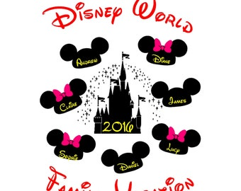 Our Disney World/Disneyland Family Vacation 2017/2018 PERSONALISED T-Shirt Transfer