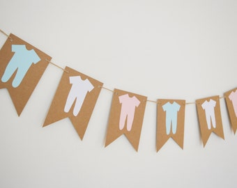 Pink, Blue, Baby Grow Garland, Baby Shower Decoration, Party Decoration, New Baby Bunting, Christening