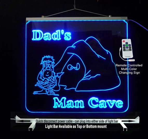 Man Cave Lighted Signs : Personalized led man cave lighted sign