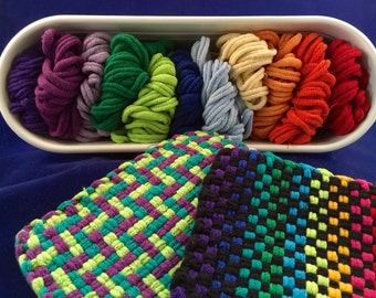 PRO size Cotton Potholder Loop Assortment - makes 4 potholders