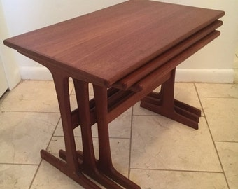 Vintage Queen Anne Mahogany Tray Top Tea Side By